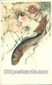 Artist Samuel Schmucker, non postal backing - Unused