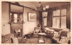 TINTERN MONMOUTHSHIRE WALES BEAUFORT ARMS HOTEL~CORNER OF LOUNGE POSTCARD 1936