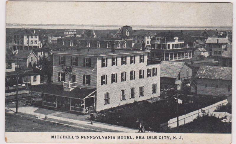 Sea Isle City New Jersey 00 10s Mitchell S Pennsylvania Hotel