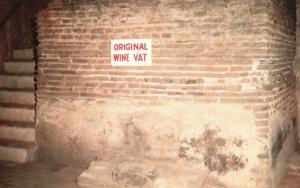 Vintage Postcard Original Wine Vat Mission San Antonia De Padua  Jolon CA