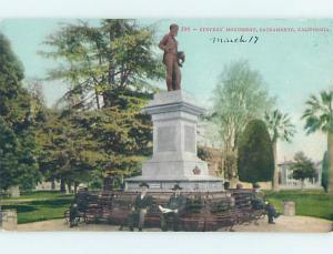 Divided-Back MONUMENT Sacramento California CA HJ8177