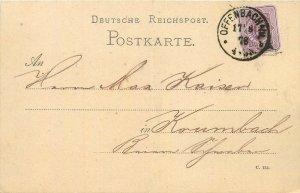 Deutsche Reichspost Postkarte Postal Stationery Offenbach 1878 Kaiser Germany