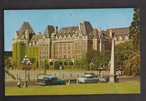 Canadian Pacific Railway, Empress Hotel, Victoria, BC - Unused c1955 - Stains