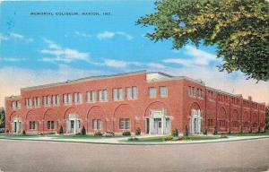 Marion Indiana~Veterans Memorial Coliseum~1940s Postcard