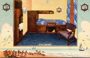 Illinois Chicago Y M C A Hotel Marine Room 1944 Curteich