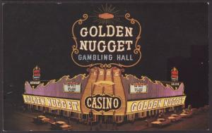 Golden Nugget Gambling Hall,LasVegas,NV Postcard