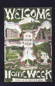 TROY NEW YORK 1908 OLD HOME WEEK VINTAGE ADVERTISING