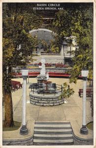 Eureka Springs Arkansas 1930-40s Postcard Basin Circle