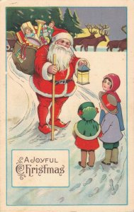 A Joyful Christmas - Santa Claus With a Bag Of Presents  03.93