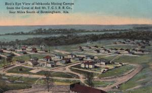 Ishkooda Coal Gold Mines Alabama Mining Camp Birds Eye Vintage USA Postcard