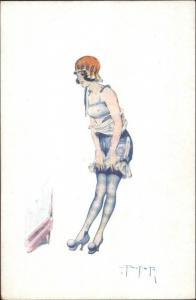 French Nude/Semi-Nude Woman La Parisienne Chez Alle L. Peltier c1910 Postcard