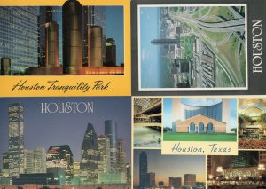 Houston Texas Motorways Skating Rink Tranquility Park 4x USA Postcard s
