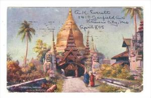 Shwedagon Pagoda, Pagan, Burmah, PU-1905
