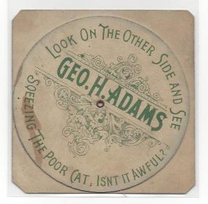 Hanlon Bros Fantasma Volvelle Wheel 6 faces Geo Adams 1894