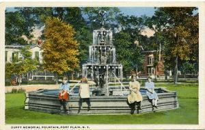 Duffy Memorial Fountain - Fort Plain NY, New York - WB