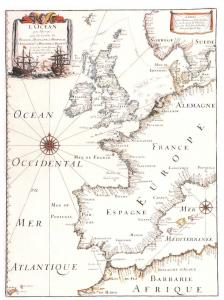 Giant Antique Repro Postcard Map of Western Europe 8x6inch 203x152mm OS133