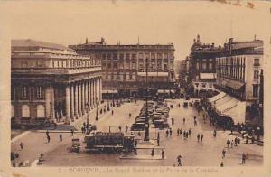 BOURDEAUX, Le Grand Theatre et la Place de la Comedie, Gironde, France,  10-20s