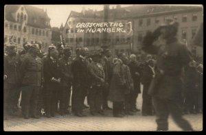 Germany 1923! Nuernberg Deutscher Tag Reichsparteitag Adolf Hitler RPPC 90098