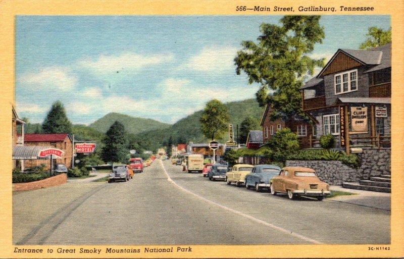 Tennessee Gatlinburg Main Street Curteich