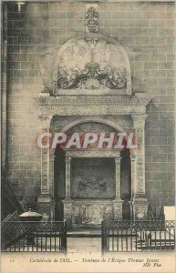 Postcard Old Cathedral of Dol Tomb L'Eveque Thomas James