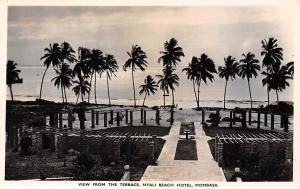 Kenya Mombasa, Nyali Beach Hotel, View from the Terrace, Palm Trees Silhouettes