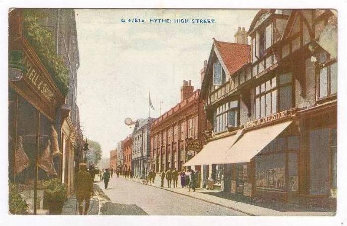 Hythe: High Street, UK, PU-1907