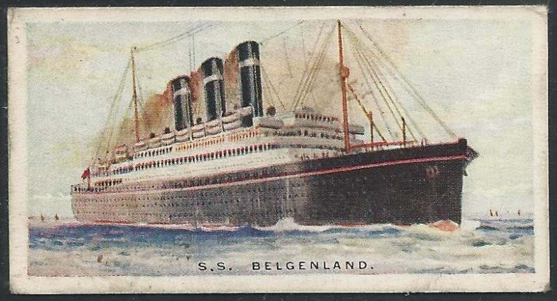 Canada 1924 Imperial Tobacco BELGENLAND Ships ot the World Cigarettes Card