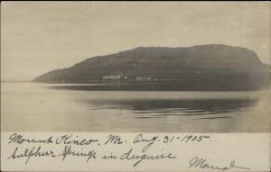 Mount Kineo Moosehead Lake ME 1905 Real Photo Postcard