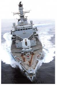 Postcard Royal Navy Ship Type 23 Frigate HMS Montrose, Marstrike 2005 8D