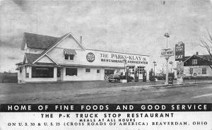 Beaverdam OH Fleet - Wing Gas Station Truck Stop Restaurant On U.S. 30 Postcard