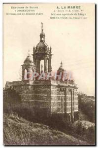 Old Postcard Environs de Rouen Monument Jeanne d & # 39arc
