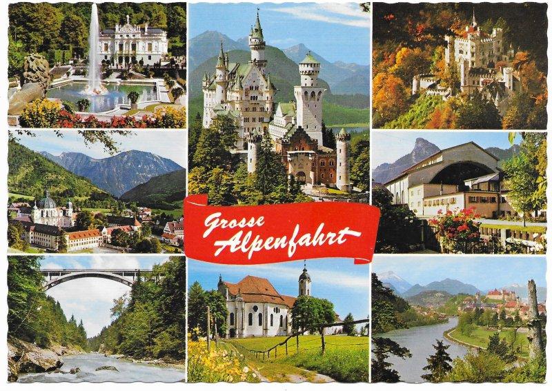 Germany. Stuttgart. Grosse Alpenfahrt. Beautiful.  mint card.