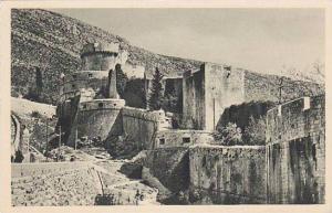 Dubrovnik, gradske zidine (minceta), Croatia , 1910-30s