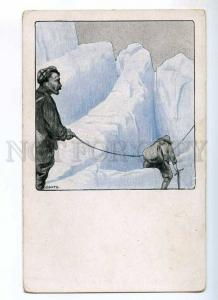 234748 POLAR EXPLORATION Ice Climbing by BARTH old ART NOUVEAU