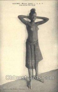Dahomey A.O.F. Une Jeune Fille Dindi African Nude Unused
