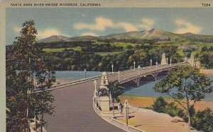 California Riverside The Santa Anna River Bridge