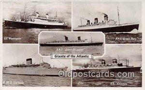 SS Washington, RMS Caroina Atlantic Ship 1952