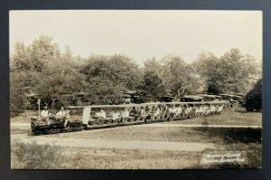 Mint Vintage Benton Harbor Michigan House of David Min Train Autos Behind RPPC