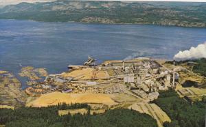 Aerial View, Elk Falls Pulp & Paper Mill, Campbell River, Vancouver Island, B...