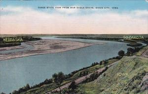 Three State View From War Eagle Grave Sioux City Iowa 1942