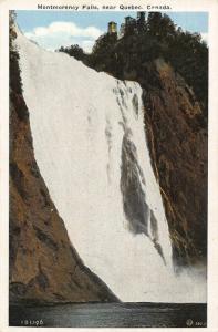 Canada Montmorency Falls near Quebec Waterfall Postcard