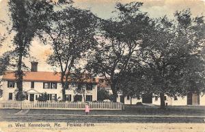 West Kennebunk ME Perkins Farm in 1909 Postcard