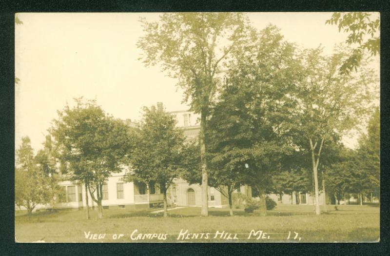 Kents Hill Campus MAINE College RPPC Real Photo Scene Postcard