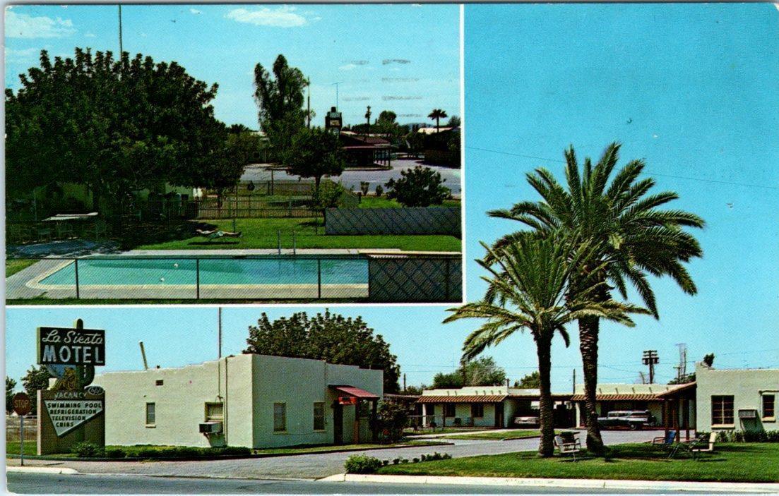 CASA GRANDE, Arizona AZ Roadside LA SIESTA MOTEL 1964