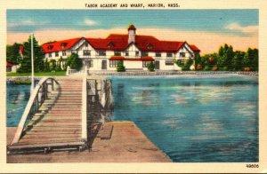 Massachusetts Marion Tabor Academy and Wharf 1951