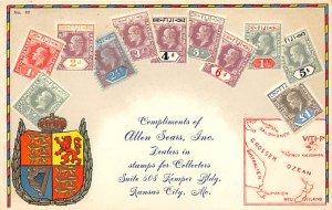 Stamp Post Card Fiji Stamps Unused