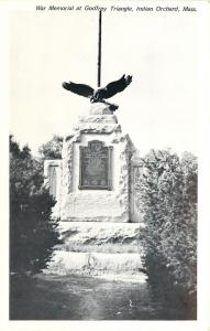Indian Orchard Massachusetts~War Memorial @ Godfrey Triangle B&W 1960s