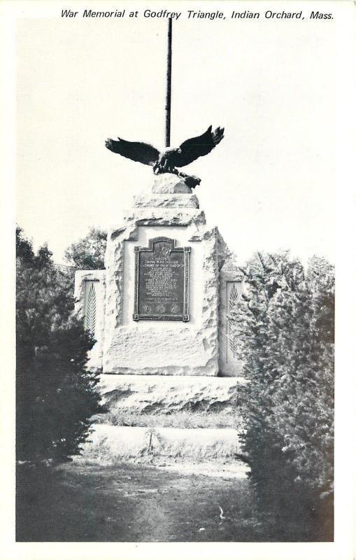 Indian Orchard Massachusetts~War Memorial @ Godfrey Triangle B&W 1960s