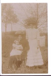 Real Photo, Two Women with Baby Outside