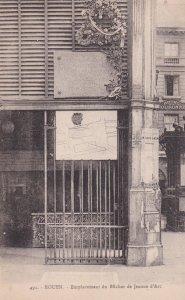 ROUEN, Seine Maritime, France, 1900-10s; Emplacement du Bucher de Jeanne d'Arc